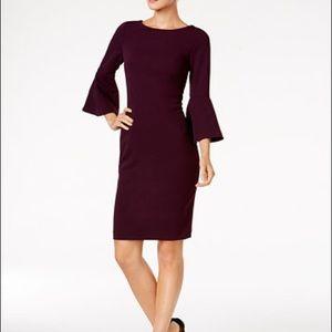 Calvin Klein Purple Bell Sleeve Dress